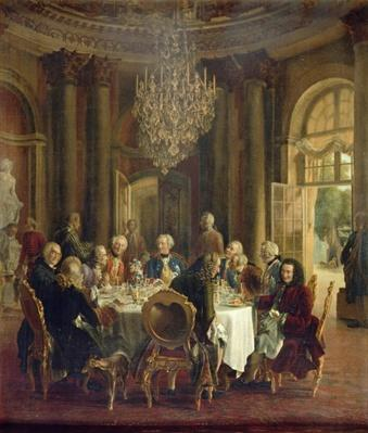 Dinner Table at Sanssouci, 1850
