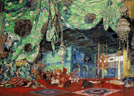Set design for 'Scheherazade' by Rimsky-Korsakov