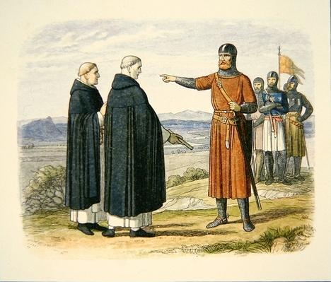 William Wallace rejecting peace proposals from the Dominican Friars, before the Battle of Stirling Bridge, 1297