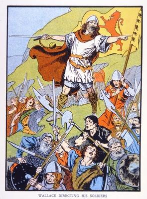 William Wallace directing his soldiers