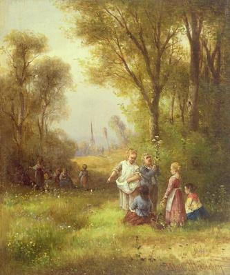 Playing in the Woods, 19th century