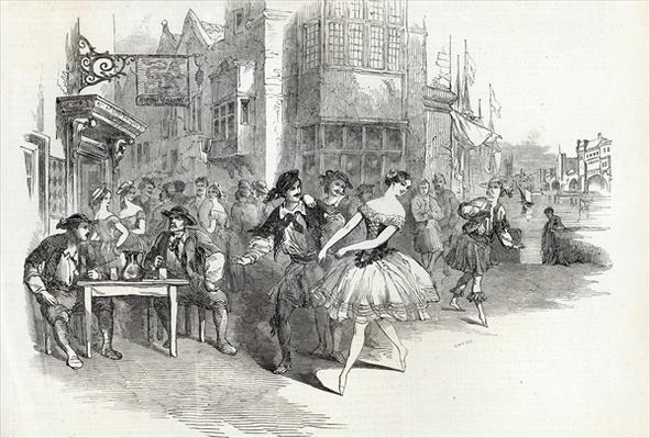 Scene from the new Ballet of 'The Wags of Wapping', at Drury-Lane Theatre, from The Illustrated London News, 21st November 1846