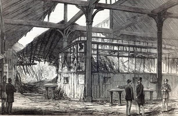 Scene of the explosion at Victoria Station on Tuesday morning last, from The Illustrated London News, 1st March 1884