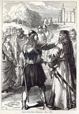 Arrest of the Duke of Gloucester, illustration from 'Cassell's Illustrated History of England'