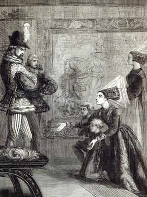 First Meeting of Edward IV and Lady Elizabeth Gray, illustration from 'Cassell's Illustrated History of England'