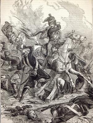 Charge of the Light Brigade, illustration from 'Cassell's Illustrated History of England'