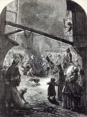 Rejoicings in London on account of the execution of Strafford, illustration from 'Cassell's Illustrated History of England'