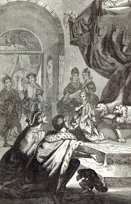 Betrothal of the French Princess to Richard II, illustration from 'Cassell's Illustrated History of England'