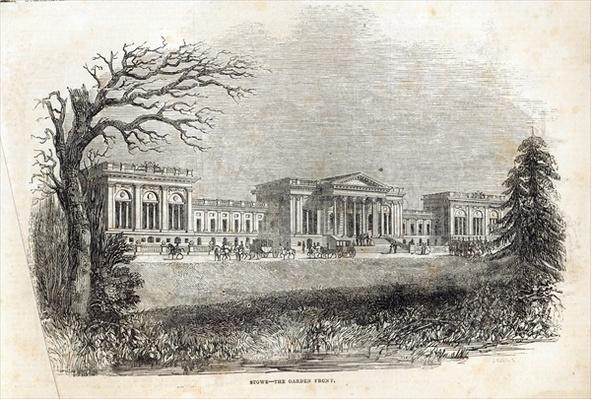 Stowe - the Garden Front, from 'The Illustrated London News', 18th January 1845