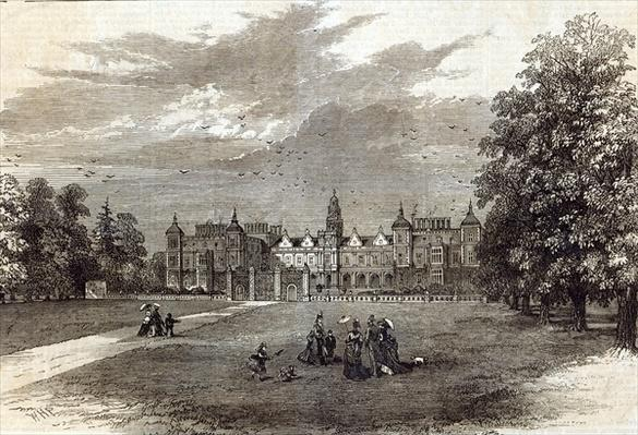 Hatfield House, the Seat of the Marquis of Salisbury, from 'The Illustrated London News', 11th July 1874
