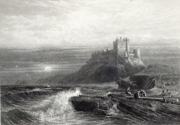 Bamborough Castle, engraved by S. Bradshaw, printed by Cassell & Company Ltd.