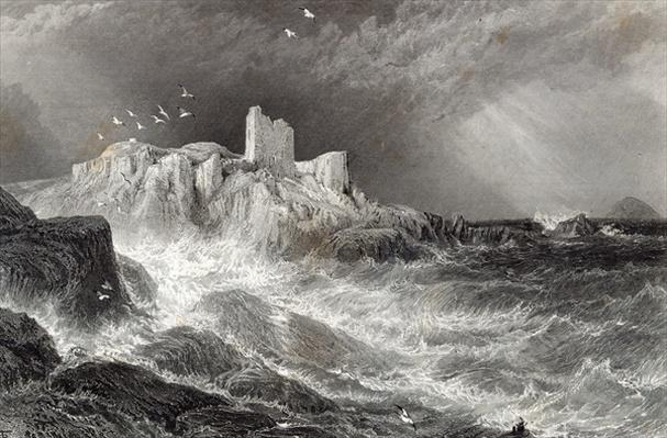 Turnbury Castle, engraved by S. Bradshaw, printed by Cassell & Company Ltd