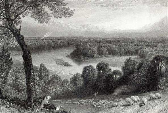 The Thames from Richmond Hill, engraved by J. Saddler, printed by Cassell, Petter & Galvin