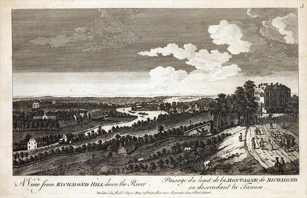 A View from Richmond Hill down the River, printed for Robert Sayer Map & Printseller, Fleet Street
