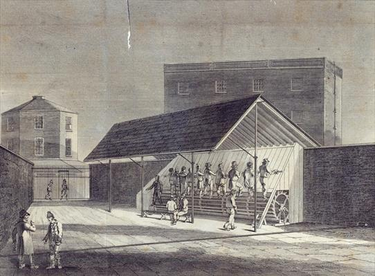 View of the Tread Mill for the Employment of Prisoners, erected at the House of Correction at Brixton, published by Gent. Mag., July 1822