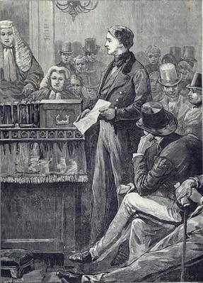 Mr Gladstone delivering his Maiden Speech in the House of Commons