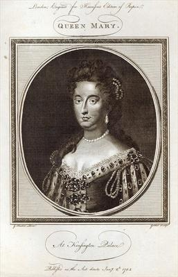 Queen Mary at Kensington Palace, engraved for Harrison's Edition of Rapin, published 8th January 1785