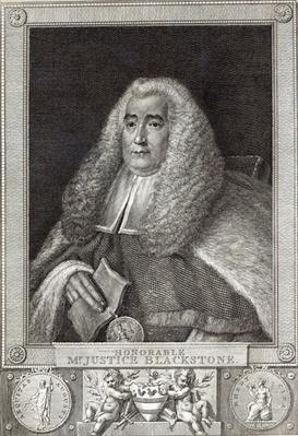 Honourable Mr Justice Blackstone, engraved by Hall