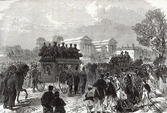 Funeral of Sergeant Brett, the Police Officer killed by the Fenians at Manchester, from 'The Illustrated London News', 28th September 1867