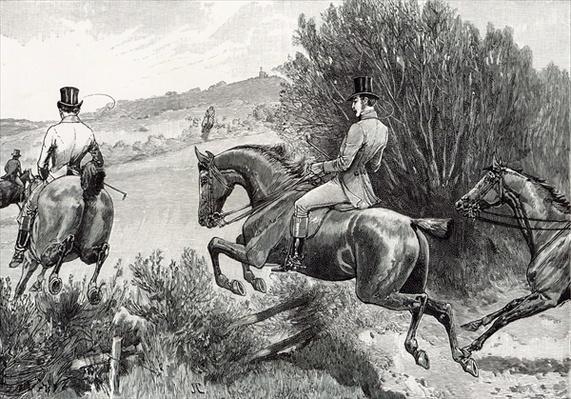Prince Albert Hunting near Belvoir Castle