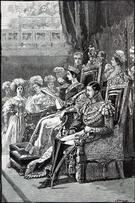 The Queen Opening Parliament in 1846