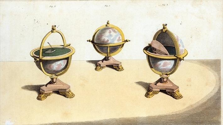 Pitt's Cabinett Globe Writing Table, pl. 14 of Ackermann's Repository of Arts, pub. 1st February 1810