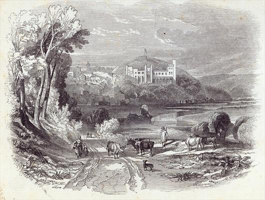 Arundel Castle and Town, from 'The Illustrated London News', 20th September 1845