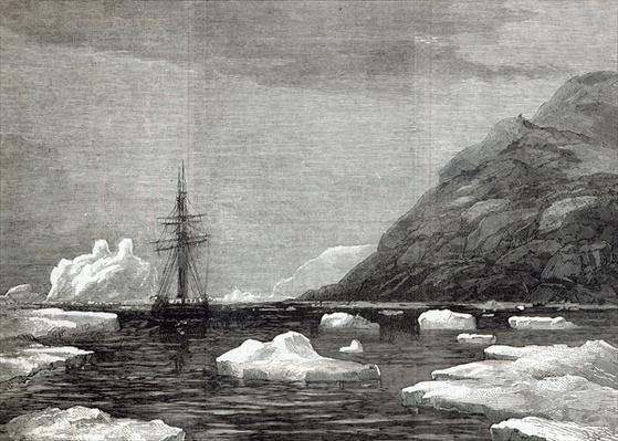 The cruise of the Pandora: Arrival off Cape Isabella, from 'The Illustrated London News', 1876