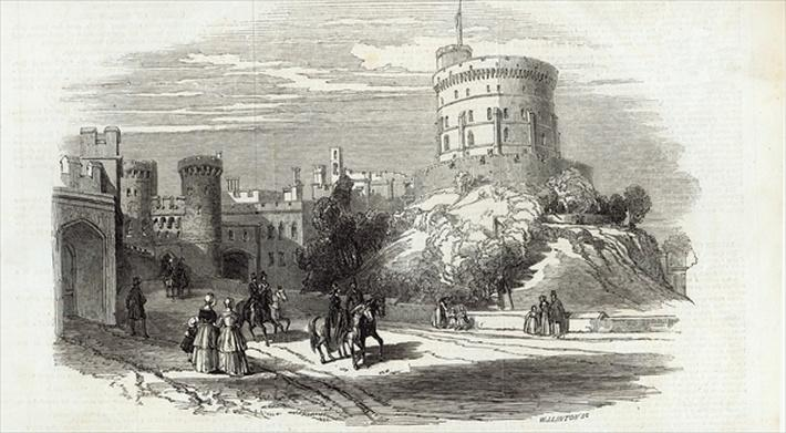 Windsor Castle - the Round Tower, from The Illustrated London News, 26th September 1846