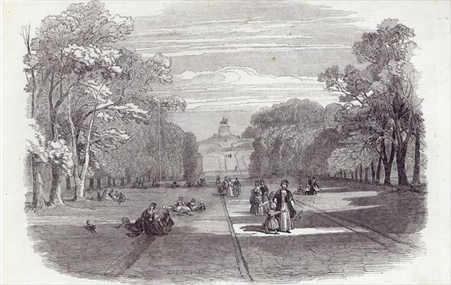 The Long Walk, Windsor, from The Illustrated London News, 14th November 1846