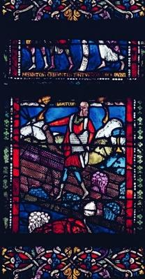 Panel depicting the Parable of the Sower, late 12th century
