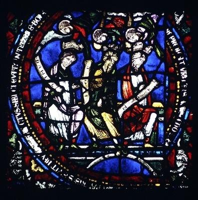 Good Ground: Daniel, Job and Noah, detail of the north window of the Choir, late 12th century