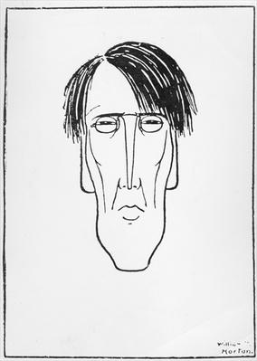 Caricature of W.B. Yeats, 1898