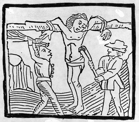 Whipping a Vagabond during the Tudor period