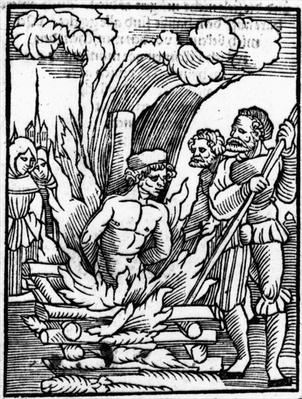 The Burning of Leonhard Kaiser as a heretic at Scharding on 16th August 1527