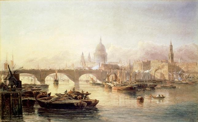 St. Paul's Cathedral and London Bridge, 19th century