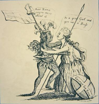 Reconciliation between Britannia and her Daughter America, 1782