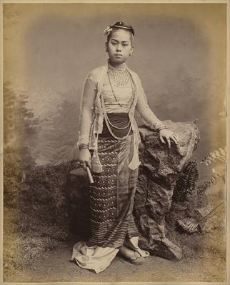 Young Burmese girl, c.1875