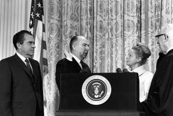 Mitchell Sworn In | Watergate