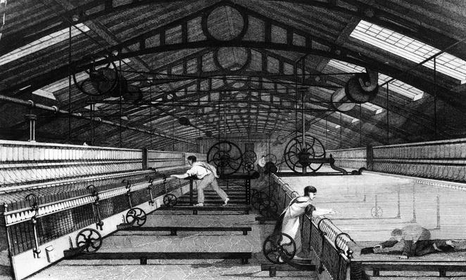 Using Spinning Mules | Industrial Revolution