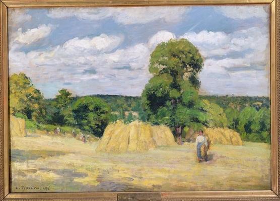 Harvesting at Montfoucault, 1876