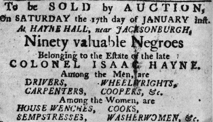 Slave Auction Poster | African-American History