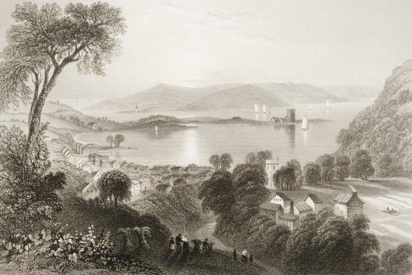 Larne, County Antrim, Northern Ireland, from 'Scenery and Antiquities of Ireland' by George Virtue, 1860s