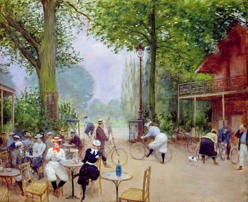 The Chalet du Cycle in the Bois de Boulogne, c.1900