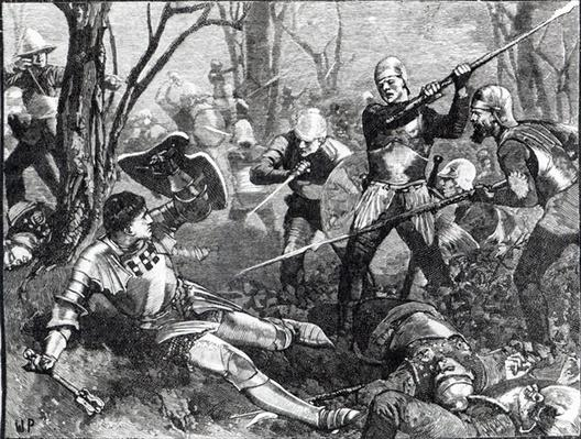 The Death of the King Maker at the Battle of Barnet, c.1880