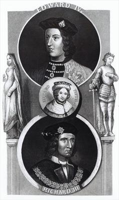 Portraits of Edward IV, Edward V and Richard III