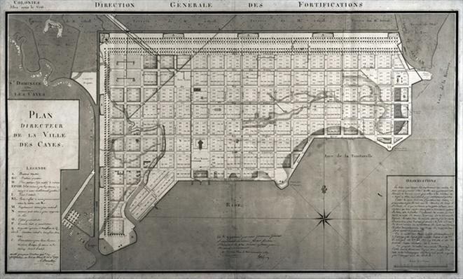 Plan Directeur de la Ville des Cayes, 1789