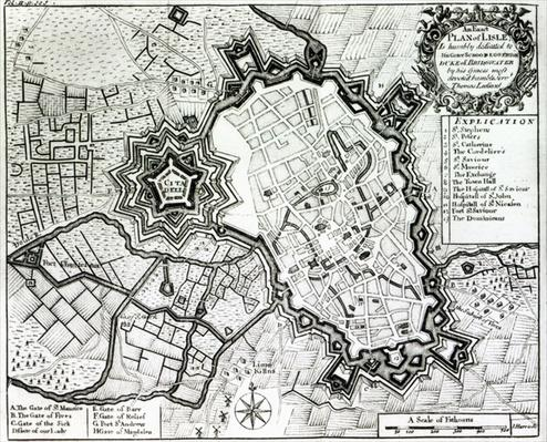 Plan of Lisle, 1736
