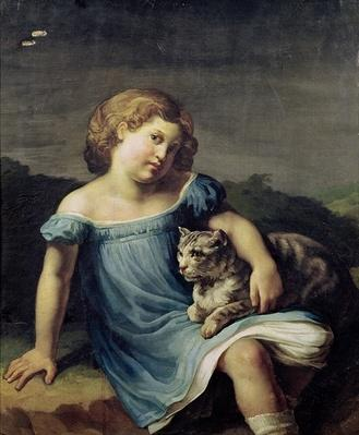 Portrait of Louise Vernet as a Child, 1818-19