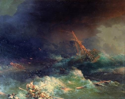 The Disaster of the Liner Ingermanland at Skagerrake near Norway on August 30th, 1842